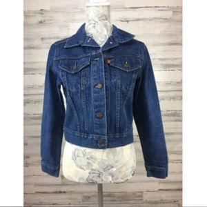 Vtg Levi's sz S/ M Jacket Orange Tab Blue Denim